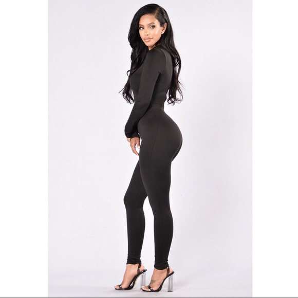 2a89153c2fe Fashion Nova Pants - Fashion Nova Jumpsuit- Black long sleeve